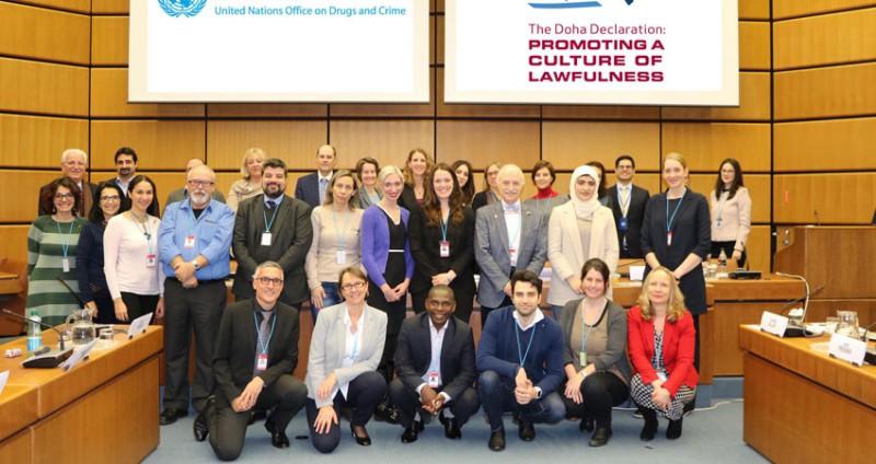 FN-møte om undervisning mot kriminalitet og korrupsjon